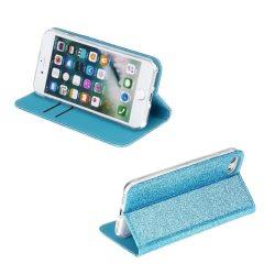 Kék, csillogó, kinyithatós iPhone SE 2020 tok
