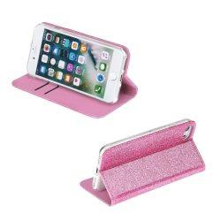 Pink, csillogó, kinyithatós iPhone SE 2020 tok