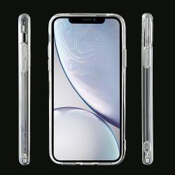Erősített iPhone 12 mini szilikon tok + üvegfólia