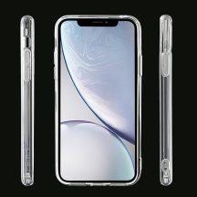 Erősített iPhone 12 / 12 Pro szilikon tok + üvegfólia