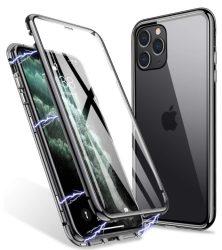 iPhone 12 / 12 pro átlátszó mágneses tok mindkét oldalt üveggel