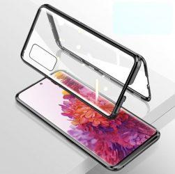Samsung Galaxy S20 FE mágneses tok elöl hátul üveg