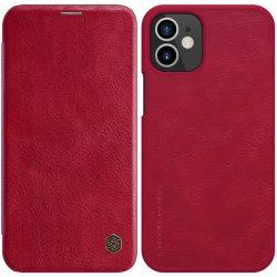 Nillkin Qin iPhone 12 mini piros kinyithatós bőrtok
