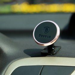 Baseus ezüst, 360 forgatható, öntapadós telefontartó