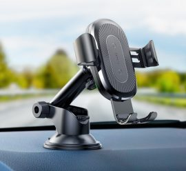 Baseus vezeték nélküli töltős autós telefontartó állítható karral
