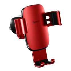Baseus metál piros autós telefontartó