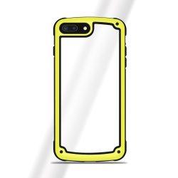 iPhone SE 2020 ütésálló tok sárga kerettel + üvegfólia