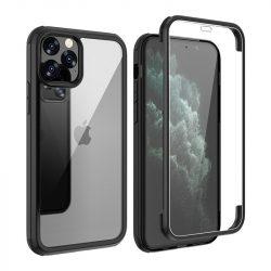 iPhone XS Max átlátszó ütésálló tok mindkét oldalt üveggel