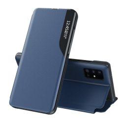 Samsung Galaxy S21 plus kék bőr okostok