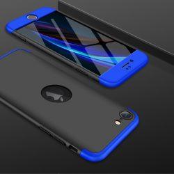 iPhone SE 2020 360°-os blue-black tok+üvegfólia
