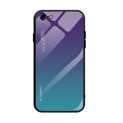 iPhone 7 / 8 / SE 2020 lila-zöld színátmenetes tok