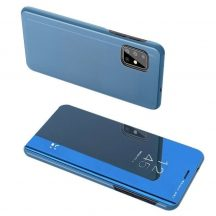 Samsung Galaxy A71 kék clear view tok