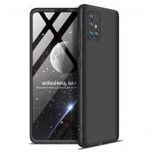 Fekete Samsung Galaxy A71 360 tok +üvegfólia