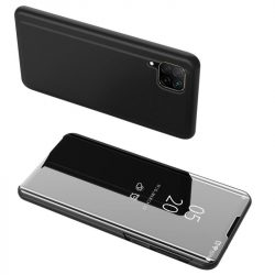 Átlátszó-fekete Huawei P40 lite clear view tok