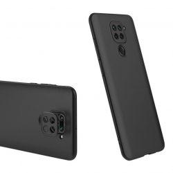 Fekete 360 fokos Xiaomi Redmi Note 9 tok üvegfóliával