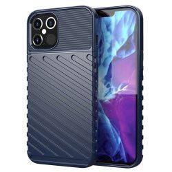 Elegáns, ütésálló kék iPhone 12 / 12 pro tok +üvegfólia