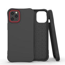 Fekete iPhone 12 / 12 pro szilikon tok +üvegfólia