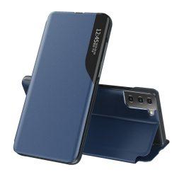 Samsung Galaxy S20 kék bőr okostok