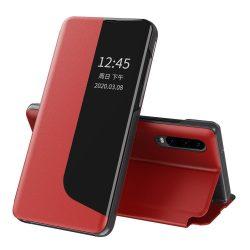Huawei P30 pro piros bőr okostok
