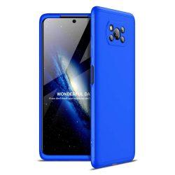 Kék 360 fokos Xiaomi Poco X3 NFC tok üvegfóliával