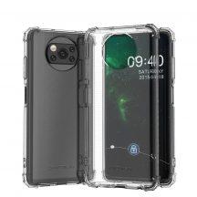 Wozinsky Xiaomi Poco X3 NFC ütésálló, átlátszó tok + üvegfólia