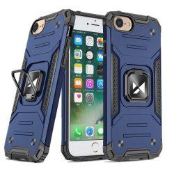 iPhone 7 / 8 / SE 2020 kék Ring Armor tok + üvegfólia