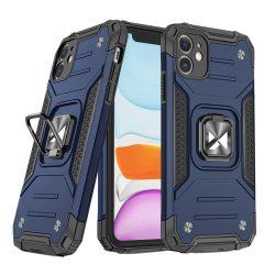 iPhone 11 kék Ring Armor tok + üvegfólia