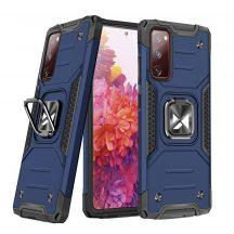 Samsung Galaxy S20 FE kék Ring Armor tok + üvegfólia
