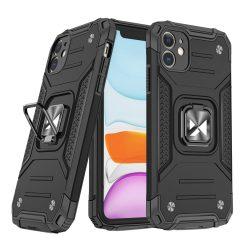 Samsung Galaxy A71 fekete Ring Armor tok + üvegfólia
