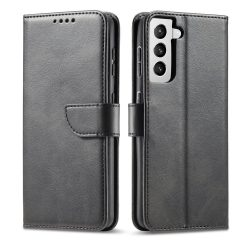 Samsung Galaxy S21 fekete, elegáns kinyithatós tok