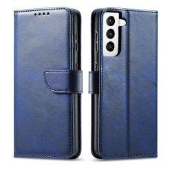 Samsung Galaxy S21 kék, elegáns kinyithatós tok