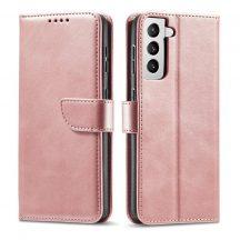 Samsung Galaxy S21 pink, elegáns kinyithatós tok