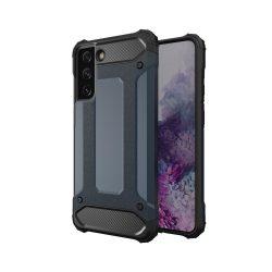 Armor, fekete Samsung Galaxy S21 kék ütésálló tok