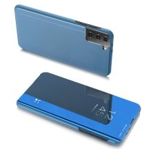 Kék Samsung Galaxy S21 clear view tok