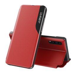 Samsung Galaxy S21 piros bőr okostok