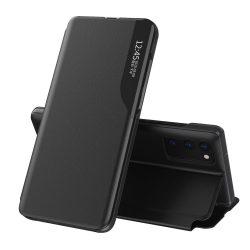 Samsung Galaxy A52 fekete bőr okostok