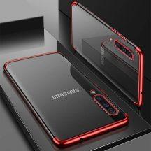 Samsung Galaxy S20 plus átlátszó tok piros csíkkal