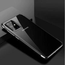 Samsung Galaxy S20 plus átlátszó tok fekete csíkkal