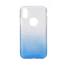 iPhone 11 csillogó, kék, szilikon, női tok