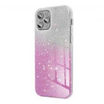 iPhone 11 pro csillogó, pink, szilikon, női tok