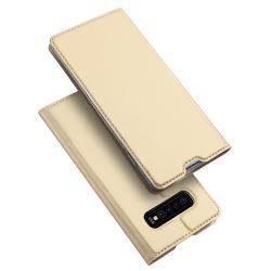 Dux Ducis arany, kártyatartós Samsung Galaxy S10 tok
