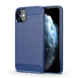 iPhone 11 kék, karbonmintás tok