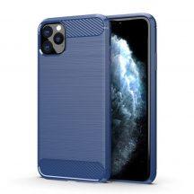 iPhone 11 Pro Max kék, karbonmintás tok