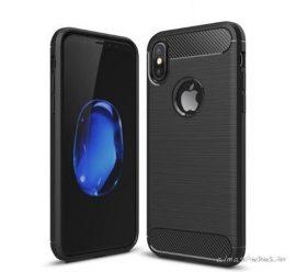 iPhone X / XS karbonmintás, elegáns tok +üvegfólia