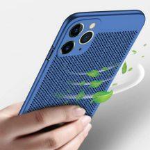 iPhone 11 pro lyukacsos, kék tok