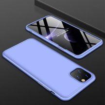 iPhone 11 pro 360°-os világoskék, matt tok +üvegfólia