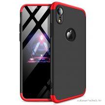 iPhone XR 360°-os piros-fekete tok +üvegfólia