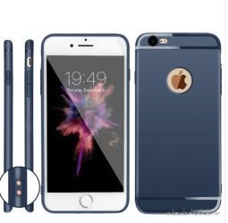 iPhone 7 plus kék, matt tok