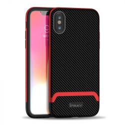 iPaky Bumblebee piros-fekete iPhone X / XS tok +üvegfólia