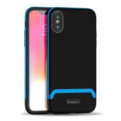 iPaky Bumblebee kék-fekete iPhone X / XS tok +üvegfólia